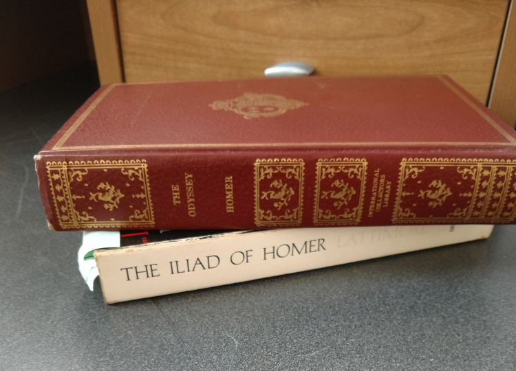 Books of Homer's Iliad and Odyssey
